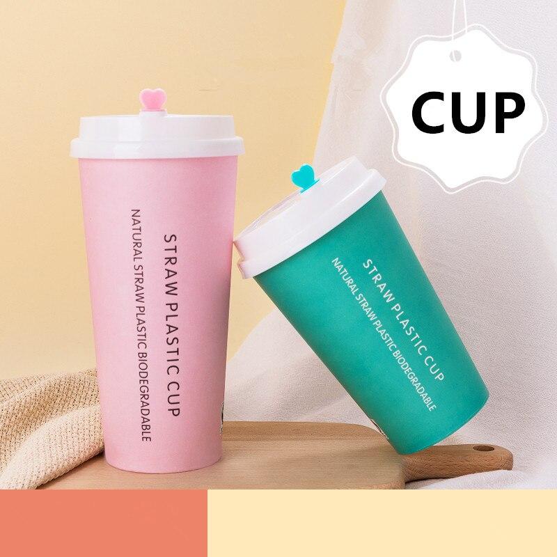 50pcs créatif fête anniversaire mariage faveur papier tasse 400ml 500ml rose bleu jetable thé tasse à emporter emballage tasses avec couvercle