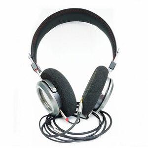 Image 4 - 40MM כבד בס פתוח חזרה אוזניות 32 אוהם HiFi מעל אוזן אוזניות מלא טווח מתכת דיור אוזניות
