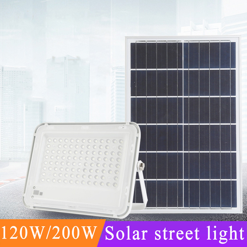 120W Led Solar Street Lights Waterproof IP67 Outdoor Road Garden Led White Solar Lighting For Path Garden Street Solar Lamp