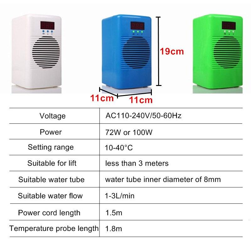 110 240 в мини охладитель для аквариума или двойной подогреватель воды, контроль температуры воды для рыб, креветок, резервуар для морских коралловых рифов - 2