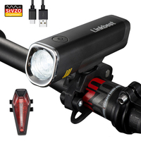 Linkbest 40 Lux USB Rechargeable Bike Light Set  Ultra Compact Design  Side Light CREE Led Bicycle Light Fit ALL BIKES|Bicycle Light|Sports & Entertainment -
