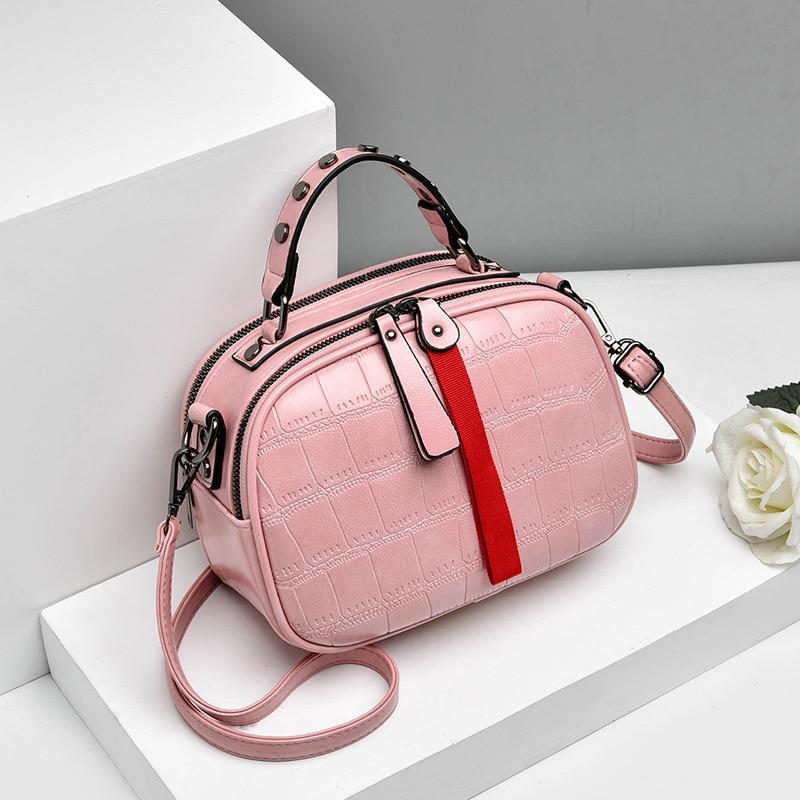 Image 3 - New 2019 Fashion Women Bag One shoulder Leather Handbags Korean Shoulder Bag Small Flap Crossbody Bags For Women Messenger BagsShoulder Bags   -