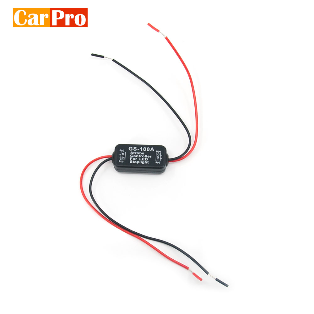 DC 12V GS-100A Car Flash Strobe Rear Light Safety Reminder Controller LED Brake Stop Light Motorcycle Flasher Module title=