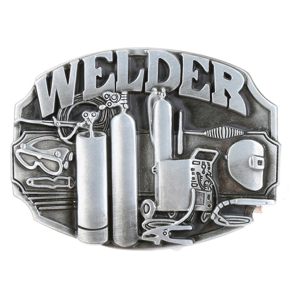 Classic Silver Welding Tool Belt Buckle Western Jeans Accessories Suitable For 4CM Belt
