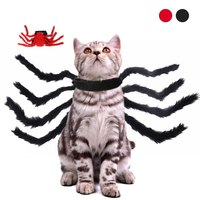 Halloween Pet Spider Clothes Simulation Spider Cosplay Costume For Dogs Cats Party Cosplay Funny Outfit Pet Costume NEW