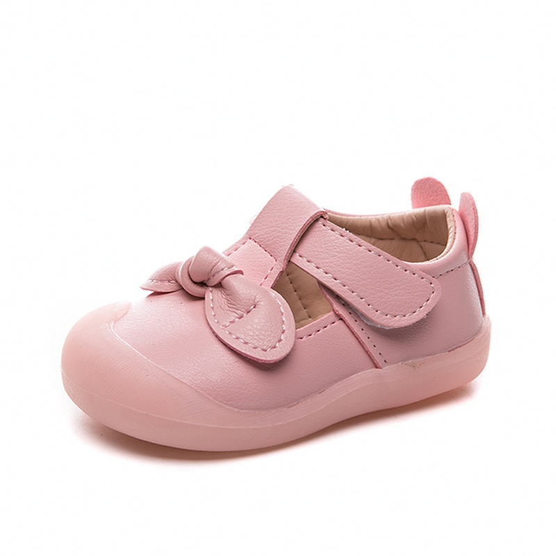 Cute Princess Baby Shoes Kawaii Pink Little Girl Leather Shoes Autumn Infant Toddler Shoes