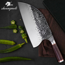 הקצב סכין נירוסטה 5CR15MOV פלדה קוצצים קופיץ סיני מטבח סכין שף בישול כלים עם ידית עץ