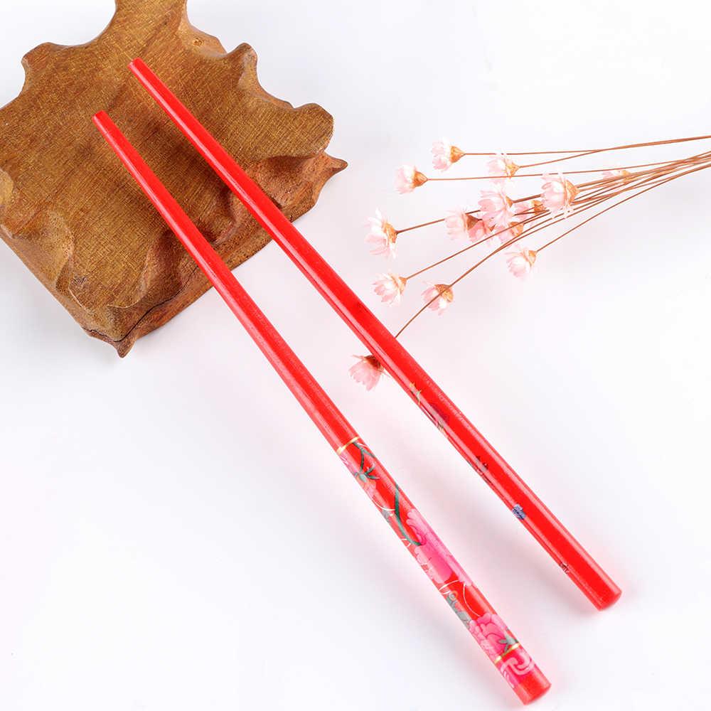 1Pc ขายร้อนไม้ธรรมชาติที่มีสีสันสำหรับผู้หญิงญี่ปุ่นไม้ Hairpin Hair stick Handmade ผม Vintage ภาพวาด Hairpin