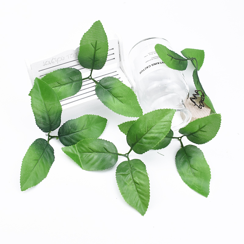 20/50 Pieces Silk Leaves Artificial Plants Decorative Flowers Wall Home Decor Wedding Bridal Accessories Clearance Fake Leaf