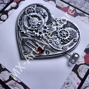MX-Steampunk Gears Heart Metal Cutting Dies Love Stencil for DIY Scrapbooking Embossing Dies(China)