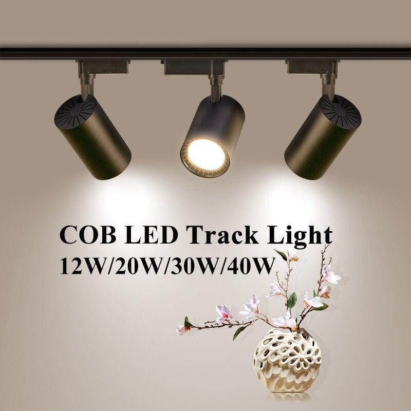Track Lights 12W 20W 30W 40W 220V Spot Light Led Track Lighting Rail LED Light for Room Track Lamp Lighting Fixture
