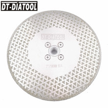 цена на DT-DIATOOL 1pc M14 Flange Dia 7/180mm Both Side Electroplated Diamond Saw Blade Cutting Disc Grinding Wheel For Granite Marble