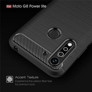 Перейти на Алиэкспресс и купить Для Moto G8 Power Lite чехол противоударный ТПУ карбоновый чехол для Motorola Moto G8 Power Lite чехол для Moto G8 Power Lite Fundas