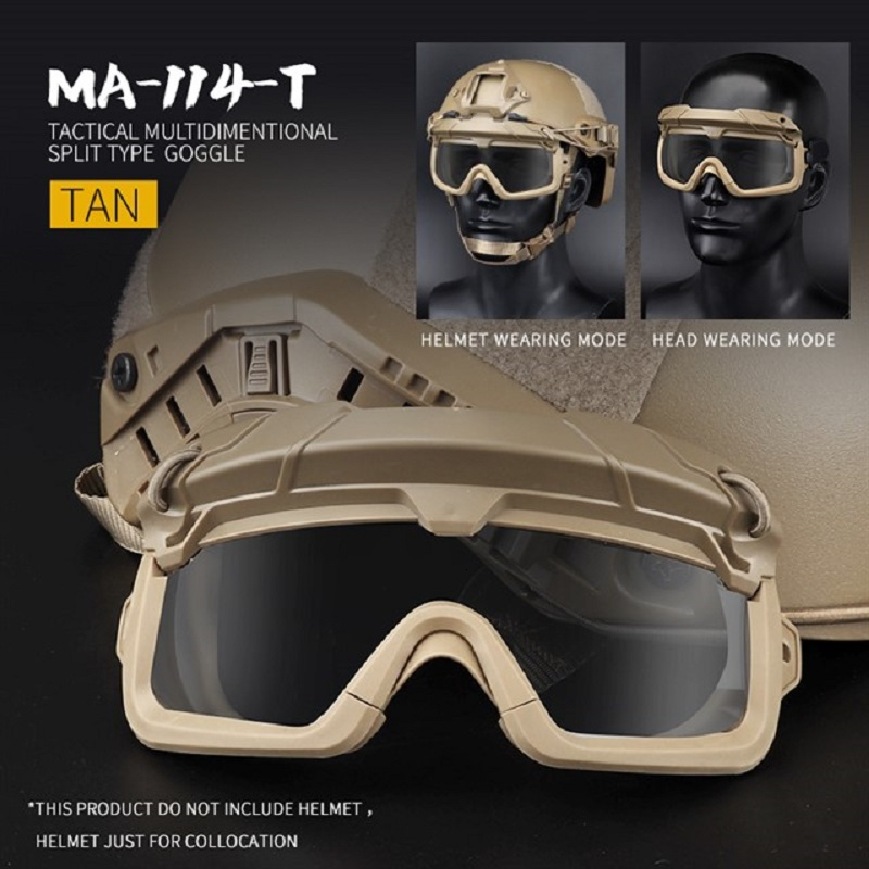 Paintball Tactical Airsoft Goggles Safety Clear Glasses Eyes Protection Shooting CS Game Anti-fog Hiking Eyewears For Helmet