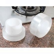 Анти-плесени водонепроницаемый прозрачный герметизирующая лента самоклеящаяся уплотнительная лента защита края для ванной комнаты пол кухня плита раковина стена