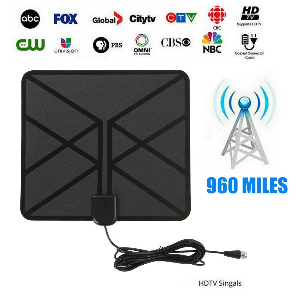 Amplificador de señal Digital HD de 960 Mile de alcance para interiores HDTV ACCESORIOS 4K Instalación fácil antena de TV Canal Libre de hogar bajo ruido