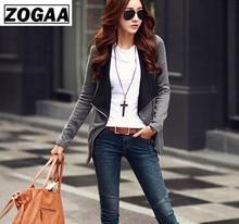 2016 Autumn New Women Long Sleeve Casual Jacket Coat Korean Style Slim Winter Zipper Outwear Jackets ZOGAA