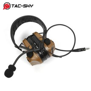 Image 4 - TAC SKY COMTAC III Silicone Earmuffs Noise Reduction Comtac Military  Headset and Tactical PTT Military Adapter u94 ptt   CB