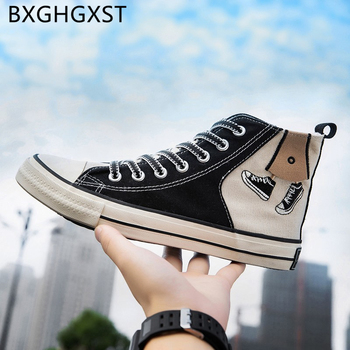 men vulcanize shoes skateboard canvas shoes men 2020 Breathable summer high top shoes men high fashion tenis casual masculino image