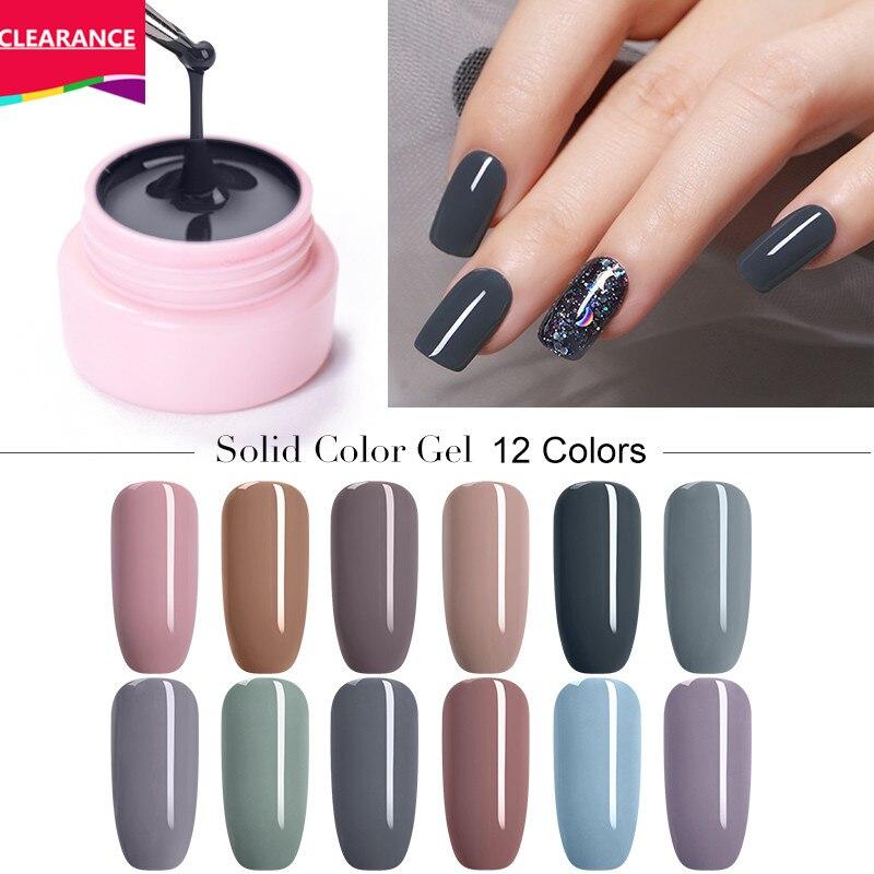 UR SUGAR 5ml Color Gel Polish Glitter Nail Art Soak Off UV LED Gel Varnish UV Color Paint Gel Nail Varnish Gel