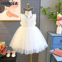 Cute Girls Dress Summer Children Floral Dresses Girl Clothes Lace Solid Party Dress Openwork Kid Princess Dress 2-7 Years girls dress summer children bohemia maxi dress floral princess party long dresses for girls 3 4 5 6 7 8 9 10 years girl clothes