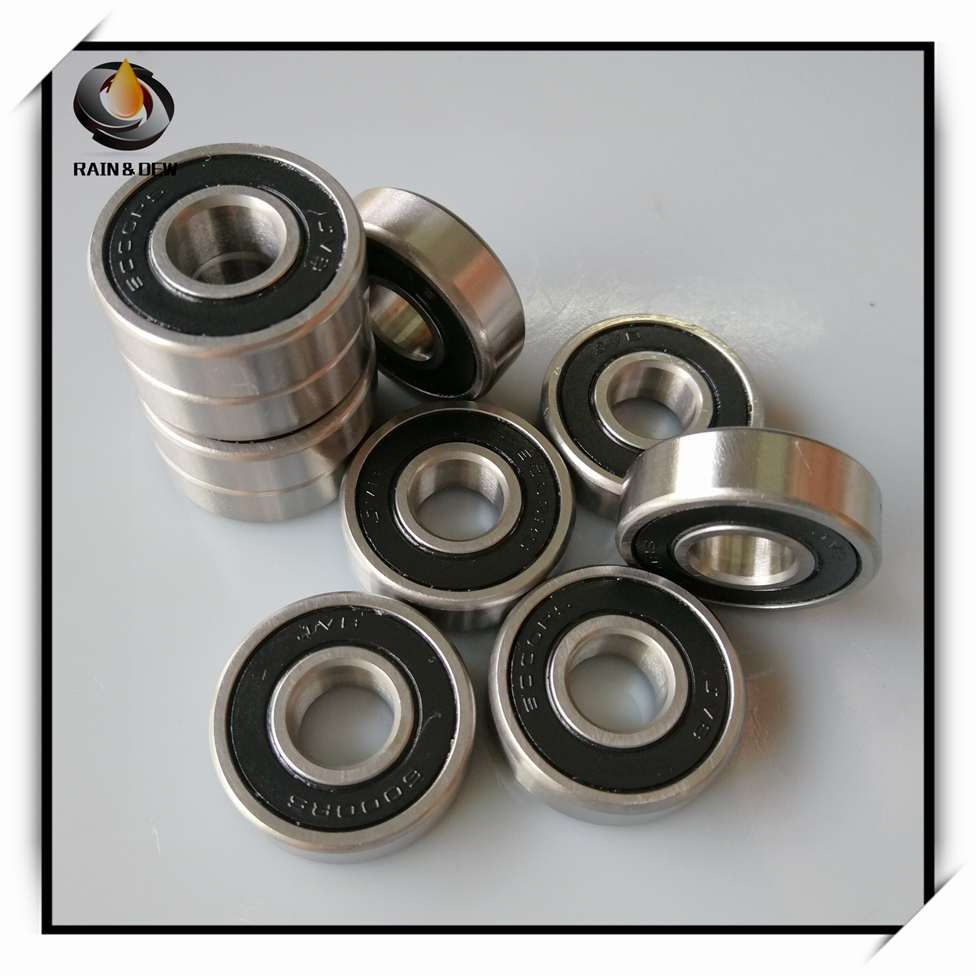 10Pcs 6000-2RS Bearing ABEC-7 10x26x8 Mm Deep Groove 6000 2RS Ball Bearings 6000RS 180100 RS