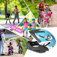 2-10 Years Old Kids Bike Helmet Full Face Detachable Helmet Children Sports Safety Helmet for Balance Bike Skateboarding Skating