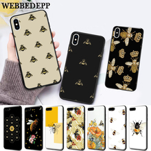WEBBEDEPP Cartoon animal bee Silicone soft Case for iPhone 5 SE 5S 6 6S Plus 7 8 11 Pro X XS Max XR