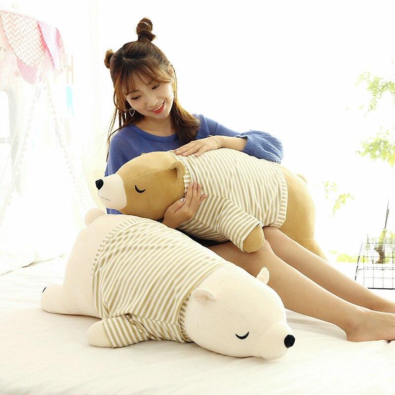Полярный медведь, плюшевые животные, милый мультфильм, Kawaii, хлопковая Мягкая кукла, подушка, антистресс, сопровождение, Спящая Подушка, игрушки для детей|Мягкие игрушки животные|   | АлиЭкспресс