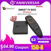Beelink GT1 mini-2 Smart TV Box Support Netflix HD IPTV Amlogic S905X3 Android 9.0 4GB 64G Voice Control 5G WiFi Google Play Box