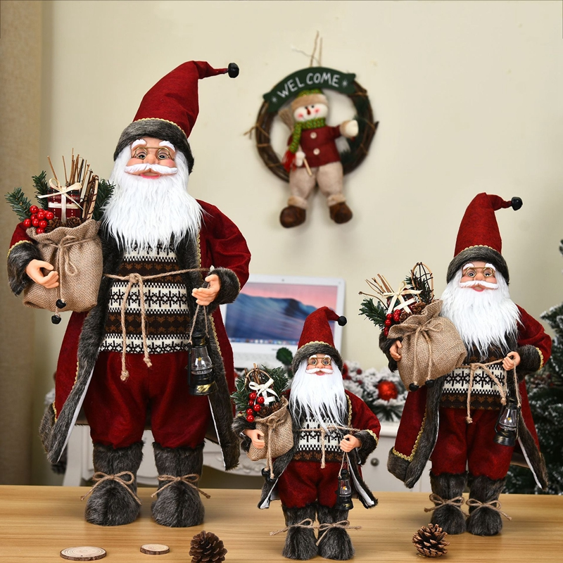Christmas Decoration Santa Claus Doll Large 30*20cm Christmas Tree Ornament New Year Home Decoration Natal kids Gift Noel Doll