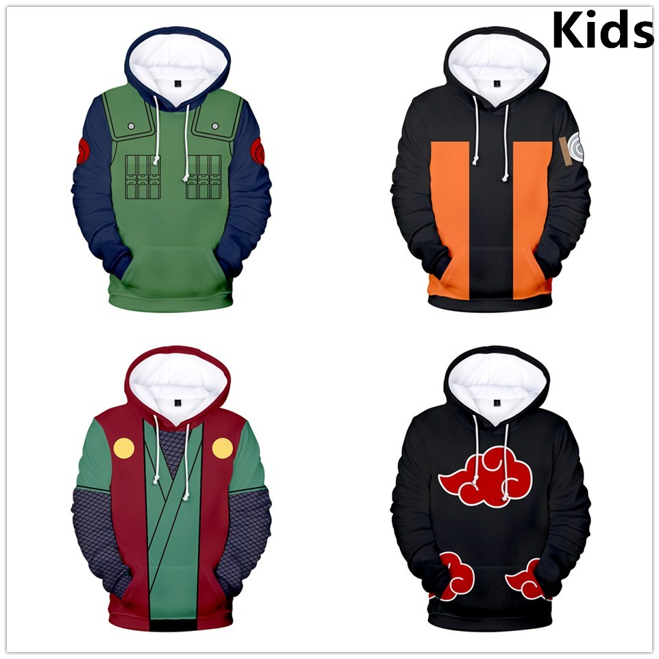 3 To 14 Years Kids Hoodie Anime Naruto 3d Printed Hoodies Sweatshirt Boys Girls Uchiha Itachi Kakashi Jacket Children Clothes