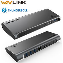 [Intel Gecertificeerd] Thunderbolt 3 Usb C 4K Display Docking Station Gigabit Ethernet Power Levering 85W Werk online Studie Thuis