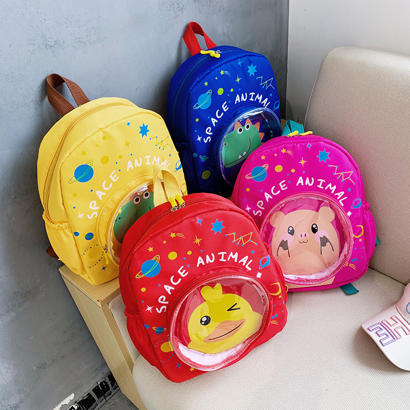 Children's Dinosaur Graphic Pocket Front Backpack Leisure Bag New Baby Harness Backpack  Cute Cartoon Backpack Fashion Trend Bag