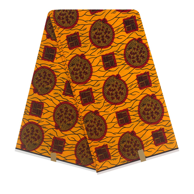 African Fabric Wax Print Real Wax Cloth 6yards African Ankara Wholesale Cotton Wax Fabric For Clothes 100% Cotton Material