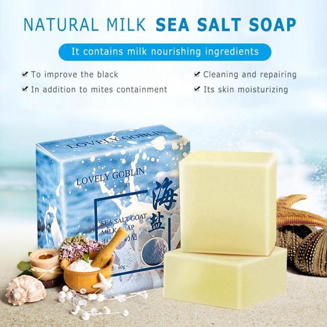 Moisturizing Oil Control Sea Salt Soap Makeup Removal Mite Pores Acne Sulphur Wash Face Goat Milk Soap Pimple Face Care TSLM2 2
