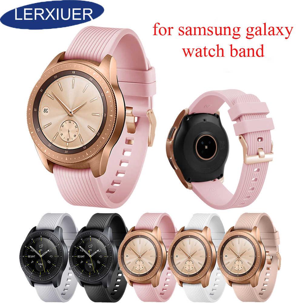 Sport silikonowy pasek taśma do Samsung galaxy watch 42mm dla galaxy watch 46mm wymiana gumy pasek na rękę bransoletka 20mm 22mm