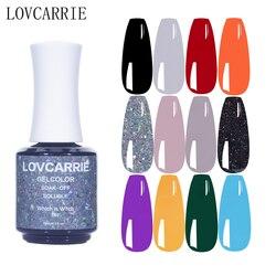 LOVCARRIE 15ML UV Gel Nail Polish Vernis Semi permanent White Milky Nude Color Acrylic Gel Nails Manicure Gellak Resin Liquid