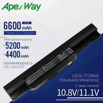 Apexway Laptop Battery for Asus K53S K53E A32-K53 A42-K53 A31-K53 A41-K53 A43 A53 K43 K53 K53U X43 X44 X53 X54 X84 X53SV X53U 7800mah battery for asus x54h x53u x53s x53sv x84 x54 x43 a43 a53 k43 k53u k53t k53sv k53s k53e k53j k53 a53s a42 k53 a32 k53