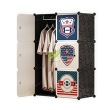 Multifunction Plastic Storage Cabinet Wardrobe Closet Assembly Simple and Easy Folded Dotomy Bedroom Furniture