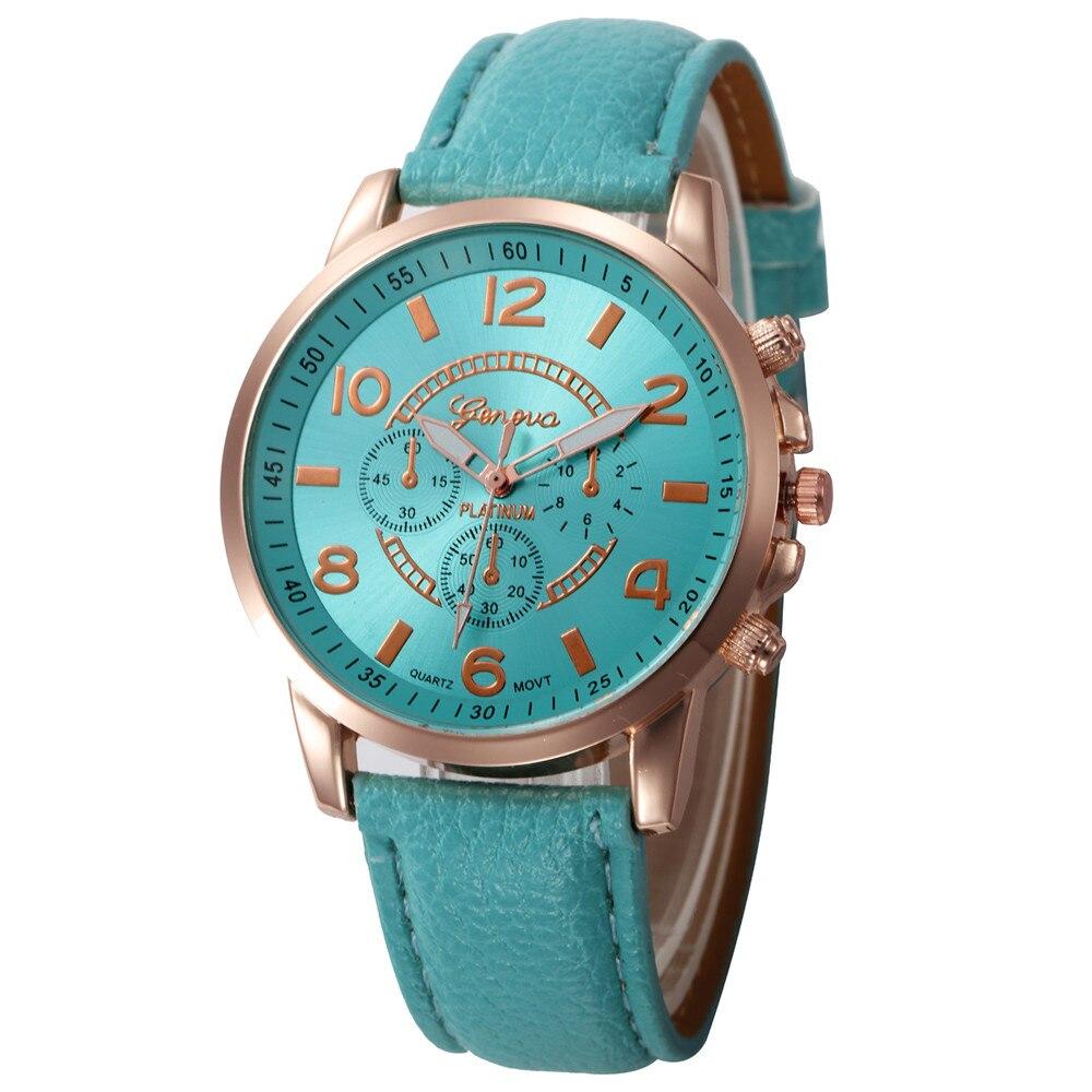 Zegarek Damski Women Casual Checkers Faux Leather Quartz Analog Wrist Watch Relojes Para Mujer Hodinky Women Reloj Pulsera