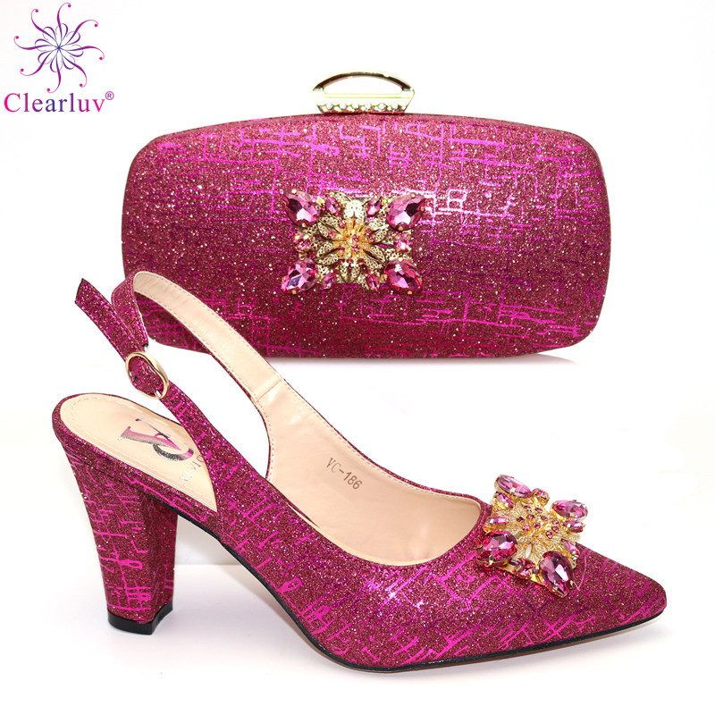 Nigerian Women Shoes and Bag Set in