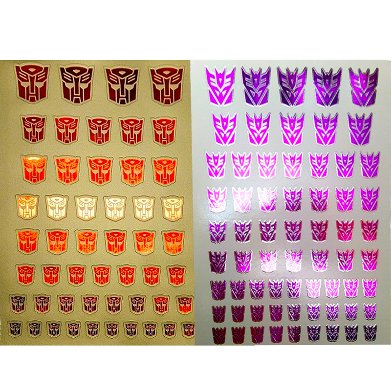 0.6 * 0.6--1.5 * 1.5Cm Stickers Decepticons/Autobots Symbol Stickers Customized COOL DIY Scene Accessories Decoratio Kids Gifts