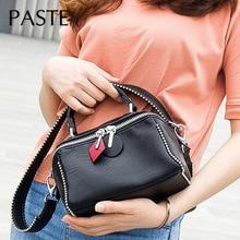 Бисероплетение широкий ремень женские сумки классические дизайнерские кожаные бостонские сумки универсальные женские сумки на плечо Маленькая Повседневная ручная сумка