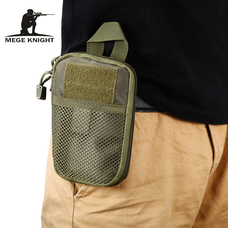 Mege New Tactical Camouflage Pouch Oxford Waterproof Military Equipment Waist Bag EDC Bag Men Wallet Phone Bag Tactical Gear
