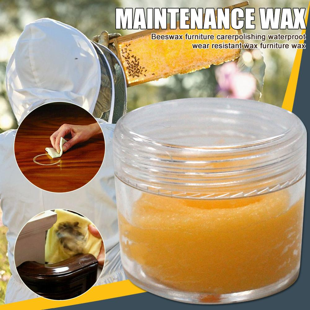 Wood Seasoning Beewax Wood Care Wax Solid Woods Maintenance Tool 20g Removes Dirt