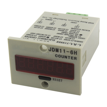 Hot Sellers JDM11-6H AC 220V 110V 380V 36V  AC/DC 24V 12V Digital Electronic Counter Relay JDM11 Voltage Level Input Production Counter — stackexchange