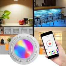 AC 85-265V 7W LED Smart Downlight Color Changeable With Smartphone And Intelligent Voice Device Controlled Down Light multi color intelligent household security robert controlled by smart phone