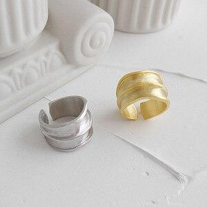Image 4 - SSTEEL 925 anillos de plata esterlina de acero para mujer, anillo abierto, Anelli Argent, Argent Massif, joyería para mujer