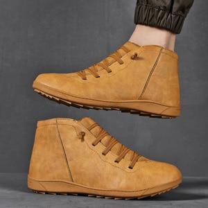 Image 4 - 2020 חדש גברים מגפי עור קרסול מגפי נשים גבוהה באיכות PU מדבר מגפי זוגות מוך גברים סניקרס נעליים יומיומיות Dropshipping